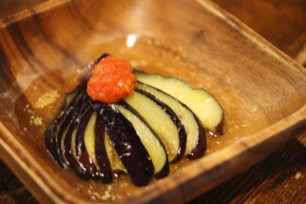 神田65料理「洋風なすの揚げびたし」